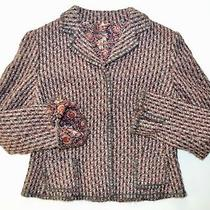 Eli Tahari Textured Jacket/blazer-Size Large-Wool Blend-Excellent Condition Photo