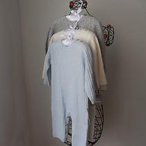 Elie Tahari 100% Cashmere Blue Kids  Bodysuit  Romper Sz  6-9 M  Photo