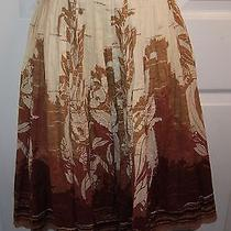 Elie Tahari 100% Cotton Full Pleated Skirt-Ombre Design-Embroidered-Summer-8 Photo