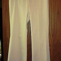 Elie Tahari 225 Beige Smooth Stretch Cotton Wide Leg Casual Pants 12 Photo