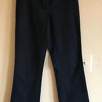 Elie Tahari 4 Black Dress Pants Side Leg Hooks Cotton Stretch Flat Front Trouser Photo
