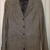 Elie Tahari 6 Designer Virgin Wool Brown Lined Fitted Blazer Equestrian Jacket  Photo