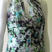 Elie Tahari 'Alexa' Floral Print Silk Chiffon Sleeeveless Top 198 Nwt Small Photo