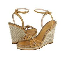 Elie Tahari Angela Women's Wedge Sandals Beige Photo