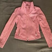 Elie Tahari Barbi Pink Perforated Leather Moto Jacket S/p Photo