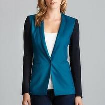 Elie Tahari Bethany One Button Colorblock Jacket Blazer 398 Sz 10 Nwt  Photo