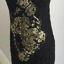 Elie Tahari Black and Gold Dress Size 8 Bnwt Photo