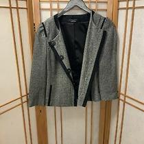 Elie Tahari Black/brown Wool Blend Jacket Size 0 Photo