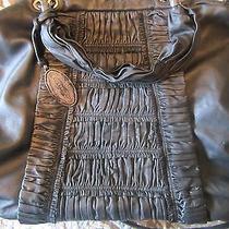 Elie Tahari Black Genuine Leather Bethany Satchel