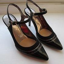 Elie Tahari Black Patent Leather