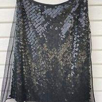 Elie Tahari Black Sequin Skirt Sz 6 Photo