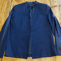 Elie Tahari Blazer Size 4 Navy Photo