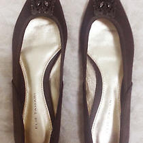 Elie Tahari Brown Jeweled Ballet Flats Us Size 6 European Size 26 - Like New Photo