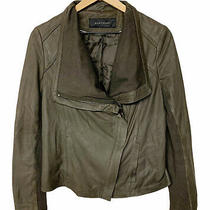 Elie Tahari Brown Lamb Leather Andreas Moto Style Jacket Womens Size Small Photo