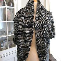 Elie Tahari Cardigan Shrug Shawl Wrap Linen Blend Women's Small Tweed Photo
