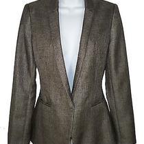 Elie Tahari Cool Wool Blazer 6 Sleek Modern Tuxedo Fitted Photo