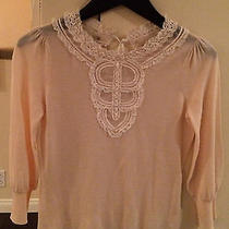 Elie Tahari Cream Sweater  Photo