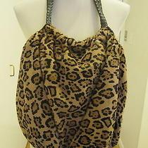 Elie Tahari Emmy Pony Hair Leopard Print Hobo Bag 850 Photo