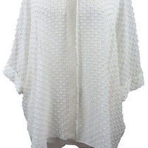 Elie Tahari Ethereal Ivory Tufted Chiffon Tunic Top L Photo
