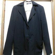 Elie Tahari for Bloomingdale's Women's Size 8 Blazer Black Hidden Snaps Jacket Photo