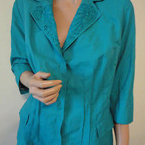Elie Tahari for Nordstrom Turquoise Green Blazer Jacket Size Large Ships Free Photo