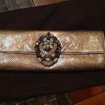 Elie Tahari Gold Metallic Clutch Photo