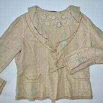 Elie Tahari Jacket/blazer-Size Large-100% Linen-Never Worn W/o Tags Photo