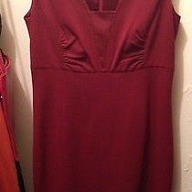 Elie Tahari Ladies Work Dress Size 8 Red Burgundy Nwt Photo