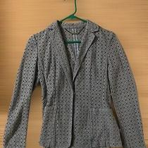 Elie Tahari Light Blue Eyelet Embroidered Blazer Size Xs Preowned Good Cond. Photo