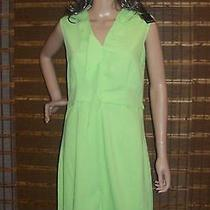 Elie Tahari Lilly  Lime Sharp Green Dress Size Us 4  238 Nwt Photo