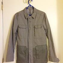 Elie Tahari Mens Gray Packable Wind Jacket Size S Photo