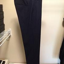 Elie Tahari Navy Yard Jillian Slim Suit Pants 95% Wool / 5% Elastane Size 0 Photo