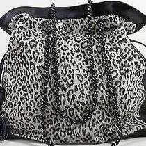 Elie Tahari New Canvas Viola Tote Shopping Leopard Brown Handbag Bag Chop 3evaz1 Photo