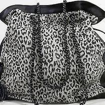 Elie Tahari New Canvas Viola Tote Shopping Leopard Brown Handbag Bag Chop 3evaz1 Photo