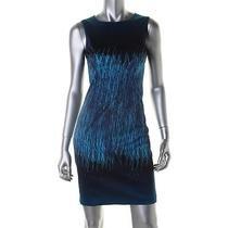 Elie Tahari New Emory Blue Lined Sleeveless Wear to Work Dress 12 Bhfo Photo