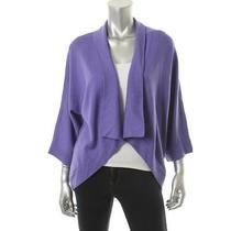 Elie Tahari New Purple Merino Wool Dolman Sleeve Cardigan Sweater Top M Bhfo Photo
