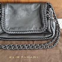 Elie Tahari Nina Chain-Strap Shoulder Bag in Black Lamb Leather     Photo