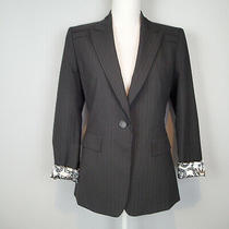 Elie Tahari Nordstrom Blazer Jacket Us 6 Black Stripes  Career Fh Photo