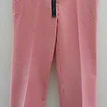 Elie Tahari Nwt Larisa Red and White Seersucker Flare Pants Size 8 Retail 228 Photo
