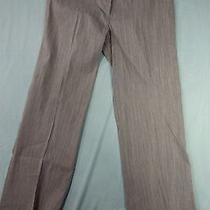 Elie Tahari Pants Womens 12 Pinstripe Gray Pink Spring Summer Career Business Photo
