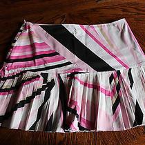 Elie Tahari Pleated Mini Skirt Size 6 Photo