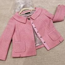 Elie Tahari Rose Pink Towel Material Jacket Blazer Xs/tp Photo