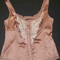 Elie Tahari  Ruffle Lace Design Sleeveless Top Tank Sz L Photo