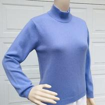 Elie Tahari S Small 4 6 8   Lavender Blue  Cashmere Tunic Sweater Top Pullover Photo