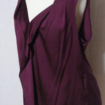 Elie Tahari Silk Tuscan Purple v-Neck Tank Blouse Shirt Sleeveless
