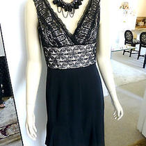 Elie Tahari Sleeveless Empire Waist Dress Size 6 ( Bust 36 ) Photo