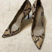 Elie Tahari Snakeskin Leather Heels Photo