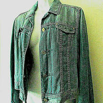 Elie Tahari Sz S Jean Jacket Denim Blue Photo