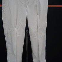 Elie Tahari Tan Pinstripe Cropped/capri Pants Size 6 Fun 12825 Photo