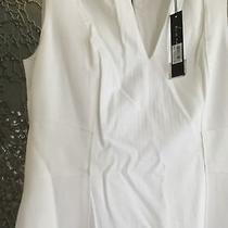 Elie Tahari White Dress With Long Zipper in the Back ( 6 ) Cambridge Photo